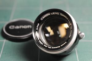 キヤノンレンズ 50mm f1.4