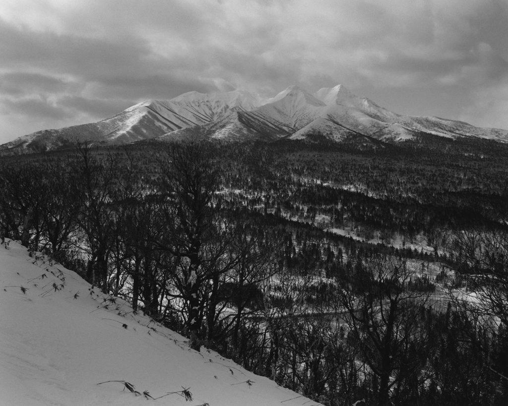 2018年2月 北海道斜里郡斜里町 根北峠より斜里岳を望む